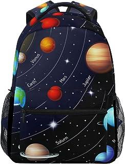 Mochila educativa del espacio exterior, universo, planeta, mochila de día, camping, senderismo, viaje, bolsa de hombro para niños y niñas