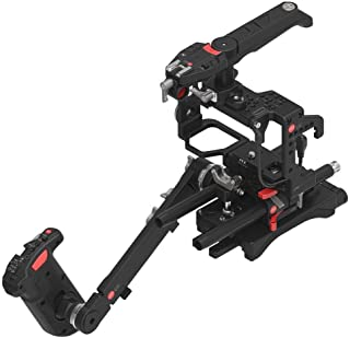 JTZ DP30 JL-JS7 Camera Cage with 15mm Rail Rod Base plate Rig and Shoulder Pad,Electric Handle Grip for SONY A9 A7III A7RIII A7SIII Dslr Camera