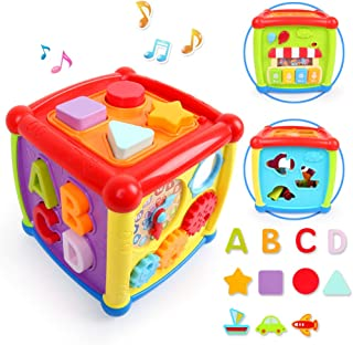 LBLA Baby Activity Cube Center Early Learning Educational Music Toys for Toddlers Flashing Shape Sorter for Babies Kids