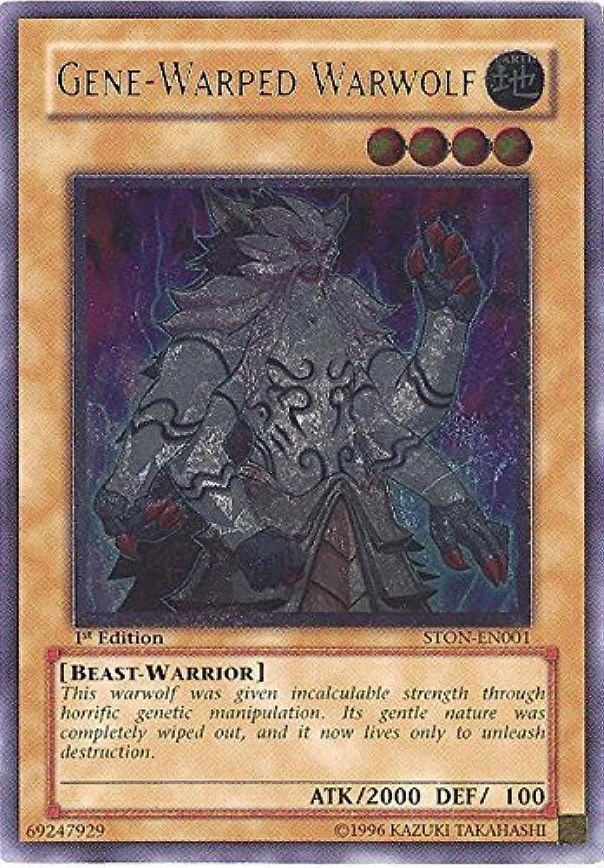 Yu-Gi-Oh  - Gene-Warped Warwolf (STON-EN001) - Strike of Neos - Unlimited Edition - Ultimate Rare by Yu-Gi-Oh