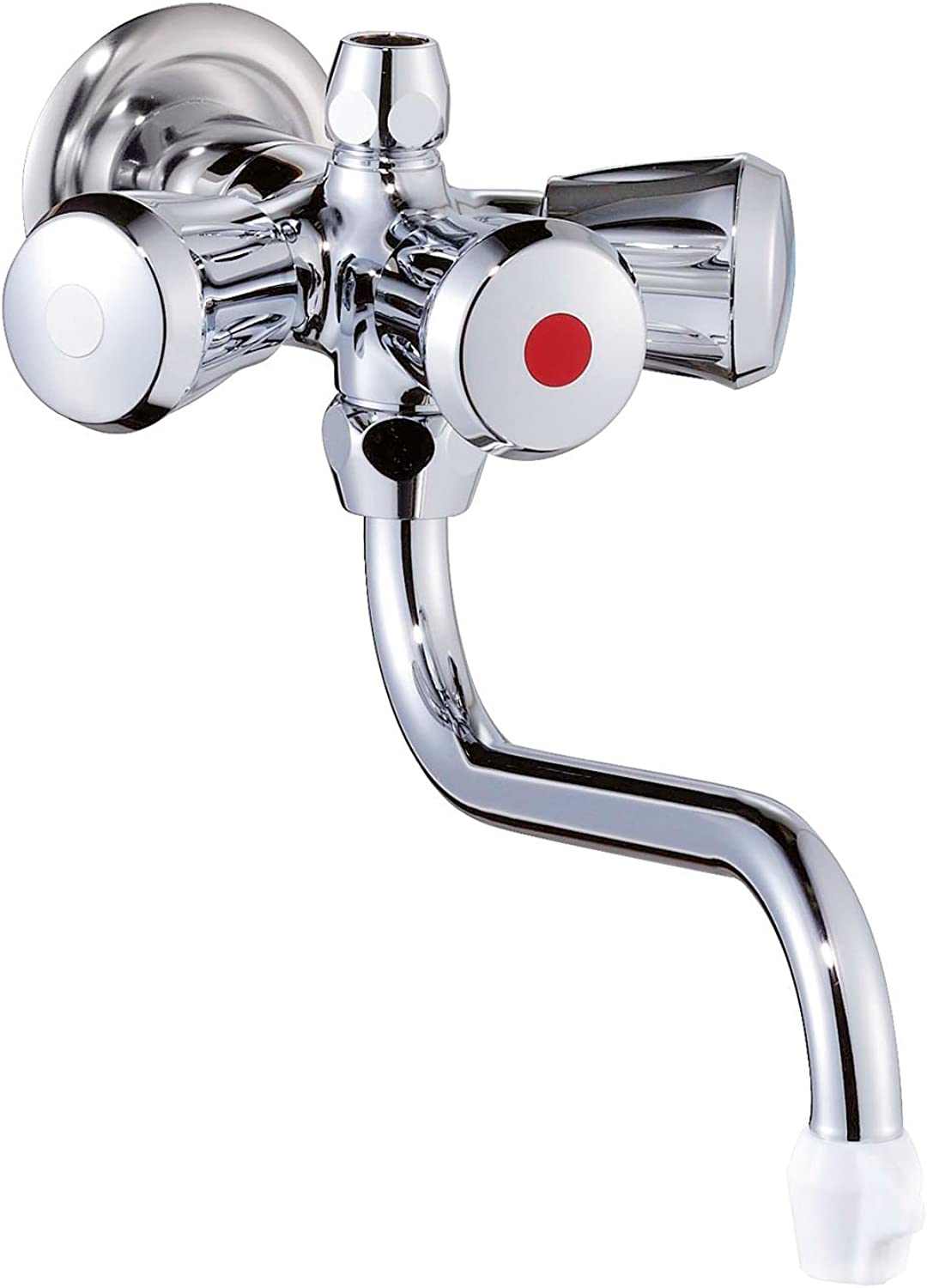 Wall-Mounted Bath Tap for Hot Water Chrome