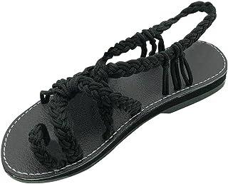 a6b182e9029 Zapatos Mujer Verano 2019 Sandalias Planas - Talla 34-42 - Casual Bohemia  Romanas Chanclas