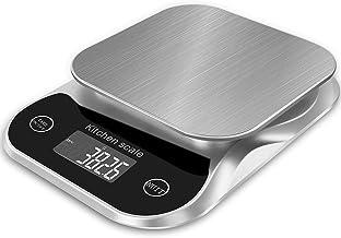 Balance de cuisine numérique Balance alimentaire Grammes et oz pour la cuisson du café 5 kg 0,1 g 0,003 oz avec fonction d...
