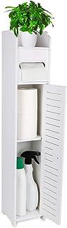 Gotega Small Bathroom Storage Toilet Paper Storage Corner Floor Cabinet with Doors and Shelves Bathroom Organizer Furniture Corner Shelf for Paper Shampoo, White