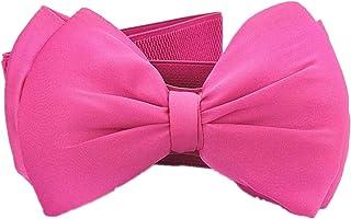 Kid Elastic Bow-Knot Stretch Waist Belts Cinch For Little Girls Dresses Cummerbunds