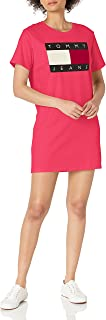 Tommy Hilfiger womens Tommy Hilfiger Short Sleeve Graphic Tee Dress Short Sleeve Flag Tee Dress