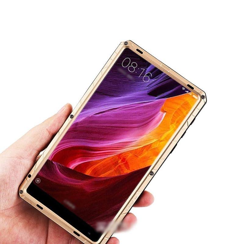 添加剤クラブテセウスTonglilili Xiaomi Mix2のための3つの反携帯電話の貝、Xiaomi Mix2のための上限の反落下貝の電話箱、Mix、Max2、Mix2s、Max3 (Color : ゴールド, Edition : Mix)