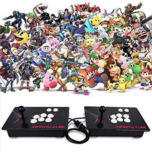 CNMJI Pandora's Box Home Spielkonsole 3D Video Arcade Konsole 4 Spieler Mit 2680 Spiel 1920X1080 Full HD Unterstützt Verlängert TF Karte Und USB Festplatte Fur PC TV PS4 Enthalten (6 Tasten)