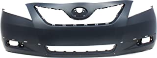 Front Bumper Cover Compatible with Toyota Camry 2007-2009 Primed with Spoiler Holes SE Model USA Built
