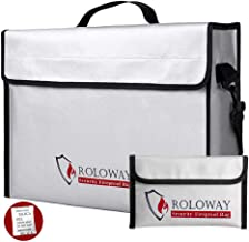 ROLOWAY Fireproof Document & Money Bags, Large Fireproof & Water Resistant Bag..