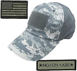 Gadsden and Culpeper Operator Cap Bundle w/USA & Molon Labe Patches (Mesh ACU)
