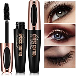 NICEMOVIC 2PACK 4D Silk Fiber Lash Mascara,Extra Long Lash Mascara and Thick, Long Lasting, Waterproof & Smudge-Proof Eyel...
