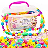 Just My Style Make & Believe Unicorn Pop Beads by Horizon Group USA, 500+ Snap-Together Beads, DIY Jewelry Kit for Kids, Materials