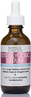 Advanced Clinicals Glycolic Peel Serum + Salicylic Acid Treatment. Gentle Formula w/ 10% Glycolic Acid Targets Fine Lines,...