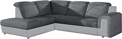 Amazon.com: EQsalon Mario B L-Shaped Corner Sectional with ...