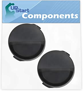 2-Pack 2260502B Refrigerator Water Filter Cap Replacement for Whirlpool ED2KHAXVS03 Refrigerator - Compatible with WP2260518B Black Water Filter Cap - UpStart Components Brand