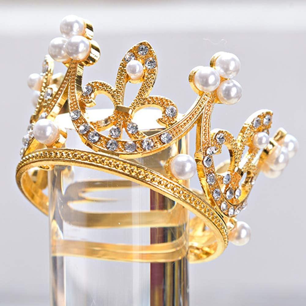 KUZHI Wedding Party Baby Circle Round Mini Crown Tiara