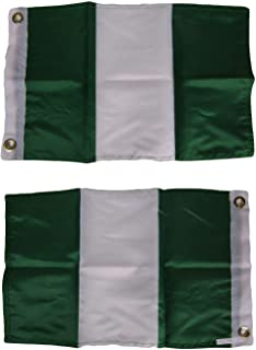 ALBATROS 12 in x 18 in Nigeria Nigerian Country 2 Faced 2-ply Nylon Wind Resistant Flag 12 in x 18 ftin for Home and Parades, Official Party, All Weather Indoors Outdoors