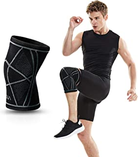TSLA Knee Pads for Arthritis, ACL, Running, Pain Relief, Injury Recovery, Basketball and More Sports Knee braces MZK01-BLK...