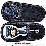 Anplus Gillette Rasierer Reiseteui, Hart EVA Reiseetui für Gillette Fusion ProGlide Power Men's Manuelles Rasierer Premium Tasche Etui - Schwarz