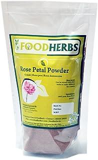Foodherbs Gulab/Rose Petal Powder (200 Gm/0.44 Lbs)