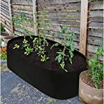 pannow Fabric Raised Planting Bed, Garden Grow Bags Herb Flower Vegetable Plants Bed Rectangle Planter for Plants… 14 ★Space-saving Gardening - Just enjoy the fun of growing your own organic vegetables and fruits; Our planting container is perfect for plants, flowers and fresh herbs, vegetables, fruits etc. ★Premium Material - Made of a proprietary fabric material, a highly durable, UV resistant, non-woven fabric that provides exceptional air flow throughout the soil and root systems and allows excess moisture to easily drain away ★Considerate Design - Plants will grow above the natural ground level with our fabric raised garden bed, which makes tending your garden much easier as you can weed, prune, water and harvest your crop with less stooping and bending; Ideal for anyone with back or joint problems