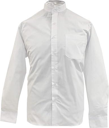 MISEMIYA - Camisa Uniforme Camarero Caballero Cuello Mao Mangas LARGAS MESERO DEPENDIENTE Barman COCTELERO PROMOTRORES - Ref.827