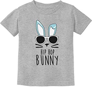 TeeStars - Hip Hop Bunny Funny Gift for Easter Toddler/Infant Kids T-Shirt - Gray - 18M