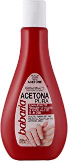 Babaria Acetona Pura Esmaltes y Geles Permanentes Quitaesmalte (1004-00055) Blanco 200 Mililitros
