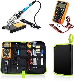 ONIPU Soldering Iron Kit, 110V 60W Adjustable Temperature Welding Tool, Digital Multimeter, 5pcs