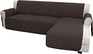 Best Easy-Going Sofa Slipcover L Shape Sofa Cover Sectional Couch Cover Chaise Lounge Slip Cover Reversible Sofa Cover Furniture Protector Cover for Pets Kids Children Dog Cat (Large,Chocolate/Chocolate) Review