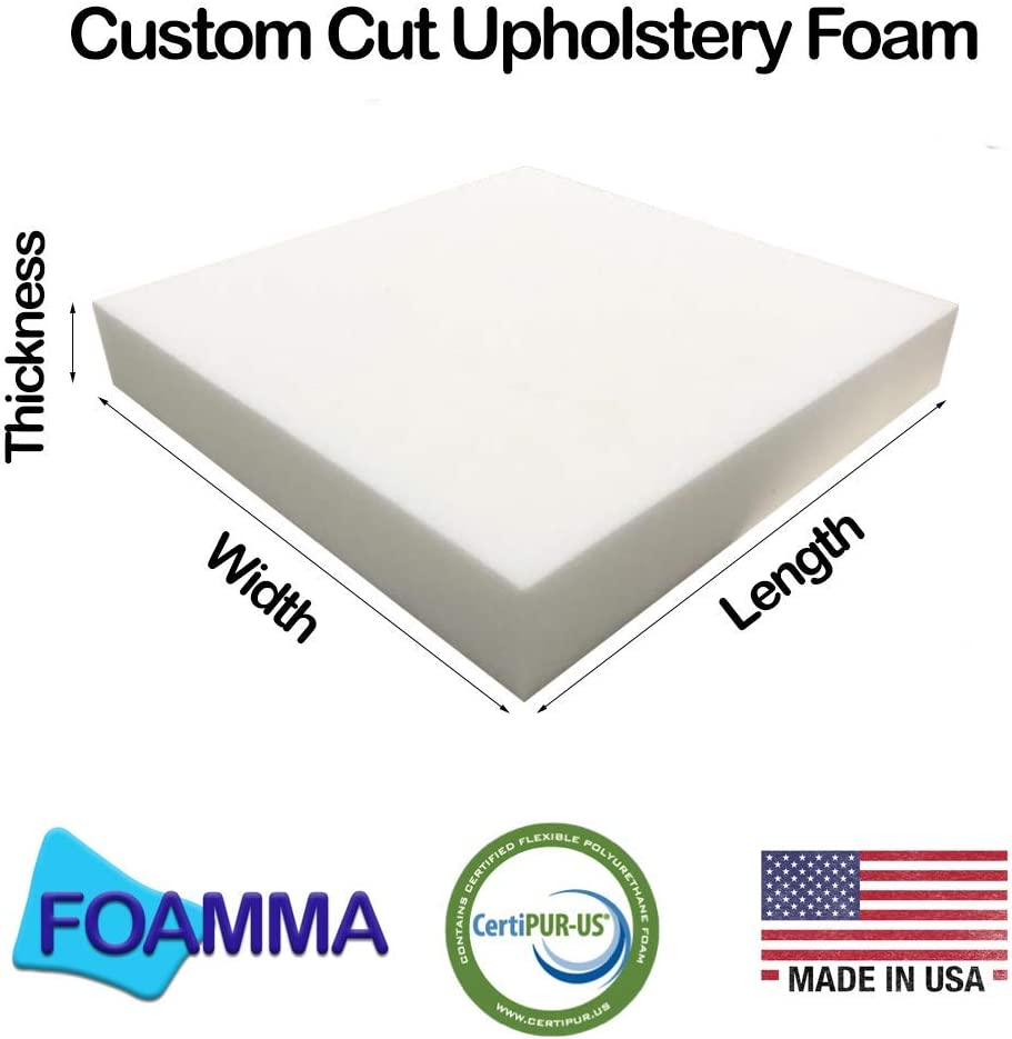 High Density Upholstery Foam Cushions Seat Pad Sofa Replacement Cut to any size