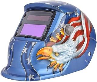 Máscara de atenuación automática solar Casco de soldadura de oscurecimiento automático Bloquear radiación ultravioleta y rayos infrarrojos, 21x35x22cm