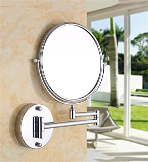 WYXIAN Sided Wall Folding Mirror Beauty Mirror Makeup Mirror Bathroom Mirror Bathroom The Mirror Enlarge Telescopic Mirror (Color : A, Size : A)