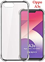 Jkobi Silicone Back Cover for Oppo A3S - Transparent