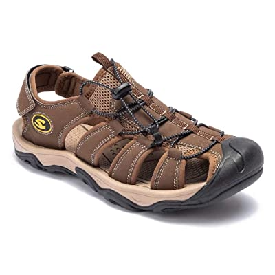 HOBIBEAR Men Outdoor Hiking Sandals Breathable ...
