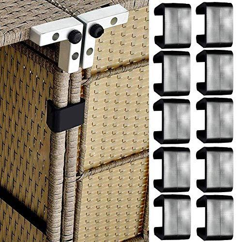 TXYFYP Packung mit 10 Patio-Rattan-Möbelclips für den Außenbereich Befestigungsclips für Sofa-Clips Ausrichtungs-Befestigungselemente Clip-Schnittverbinder für Rattan-Möbel-Gartensofas