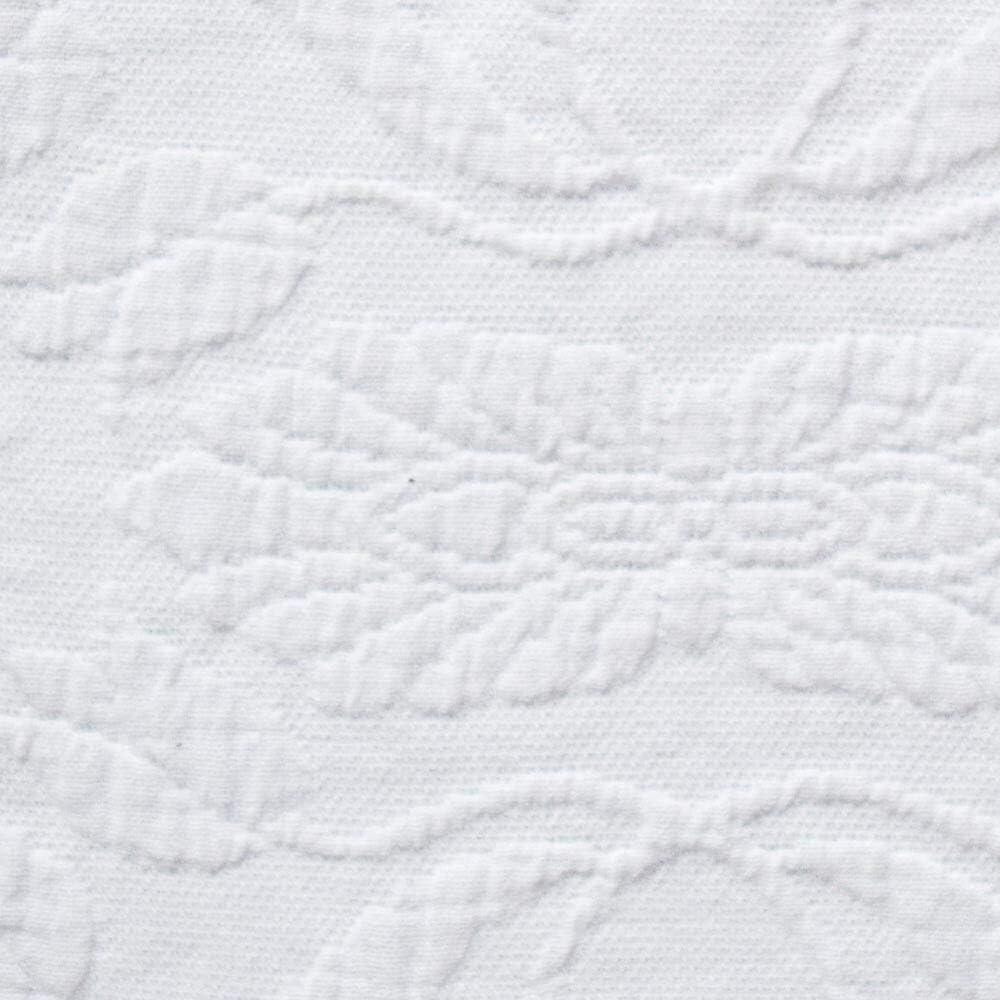 Linen Twin Queen Elizabeth Matelasse Bedspread