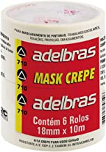 Fita Crepe, Adelbras 0669000002, Multicor, Pacote de 6