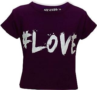 19de308fe10d8 A2Z 4 Kids® Enfants Filles Nouvelle Saison  Love Imprimer Crop Top T Shirt  Âge