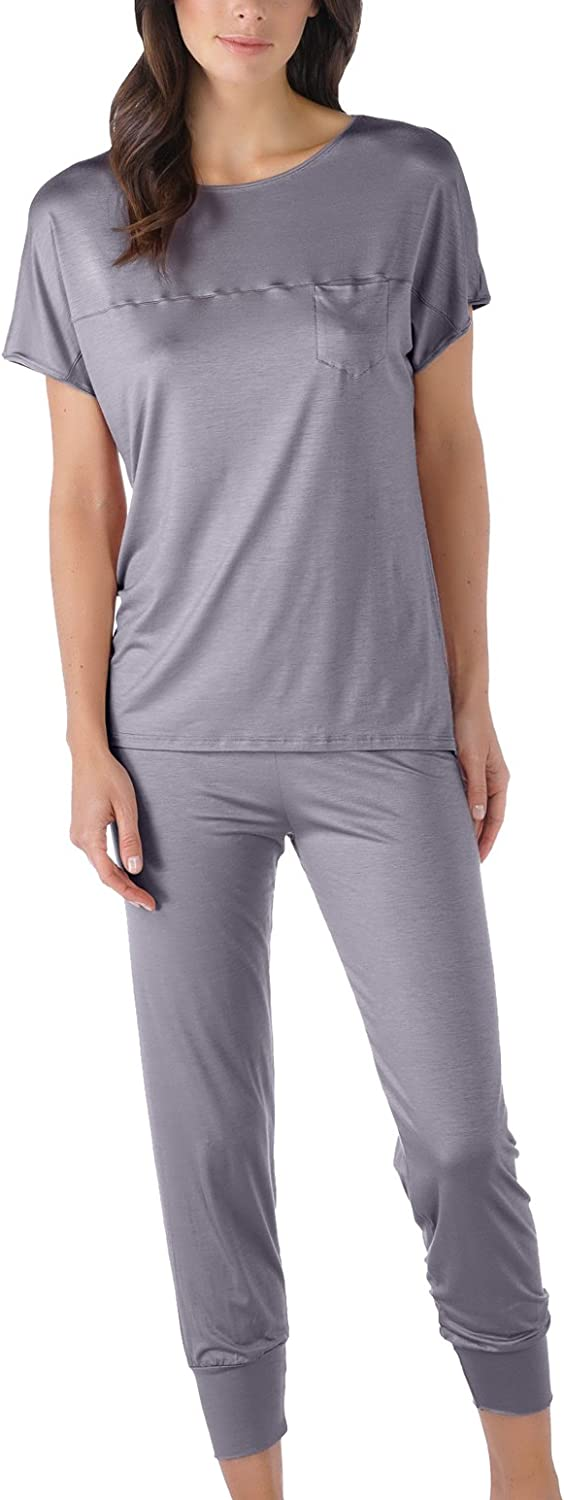 Mey 13933420 Women's Selina Shale Grey Solid Colour Pajama Pyjama Set