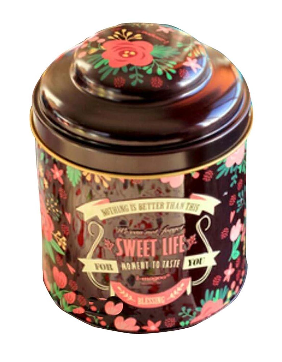 爆発物ストローク他の日2つの絶妙な実用的な茶缶の封鎖缶、ブラウンのセット