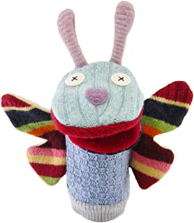 Cate & Levi Butterfly Sock Puppet with Movable Mouth – Improve Kids Skills, Storytelling and More, Handmade in Canada, Eco Friendly