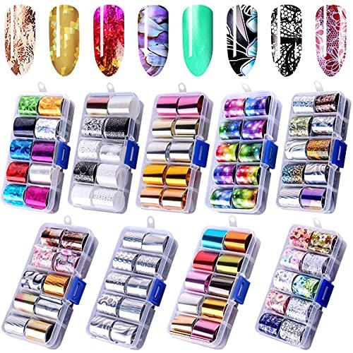 Duufin 90 Colors Nail Foil Transfer...
