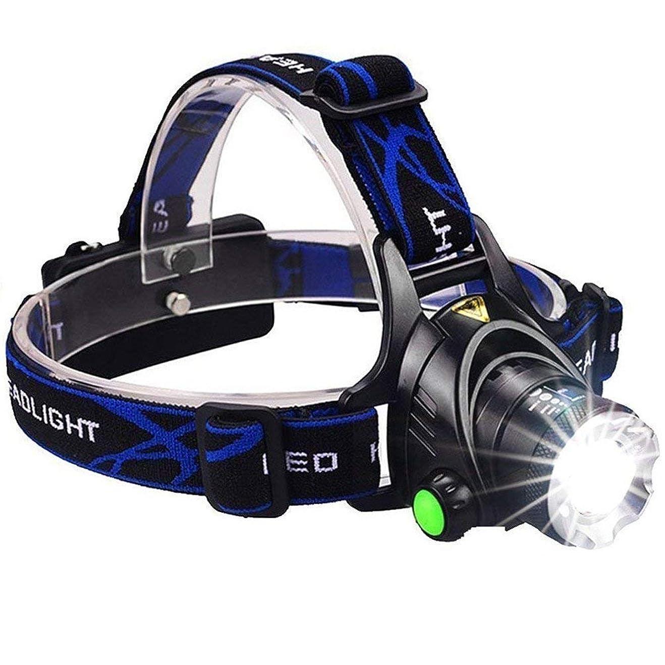 ベッドスラッシュ年Yurroad CREE XM-L2 T6 LED ヘッドライト超高輝度 3000ルーメン 3つのモードズーム可能 ランプ 再充電可能な プロの釣り灯 夜の光 (ヘッドライト)