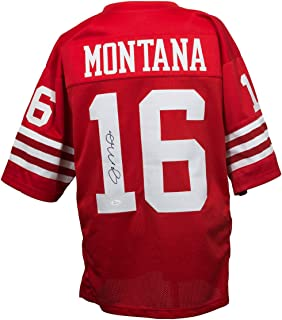 Joe Montana Signed Red Custom Pro-Style Football Jersey JSA ITP