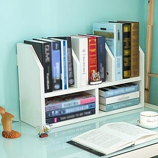 WWWANG - Estantería de escritorio con separador de habitación, 54 x 20 x 36 cm, 2 colores opcionales (color blanco, tamaño: blanco)