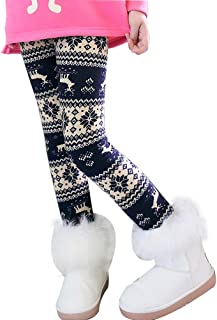 Niña Invierno Leggings Mallas Pantalones Largos Grueso Cálido Forrado Caliente Jeggings