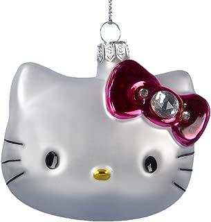 Hello Kitty Kurt Adler 3-Inch Glass Head Ornament