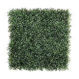 ULAND 12Pcs Pack 20' by 20' Size Artificial Faux Hedges DIY Panels, Boxwood Greenery Ivy Privacy Fence Landscaping Screening Green Wall, for Home Garden Balcony Outdoor Indoor Decoration